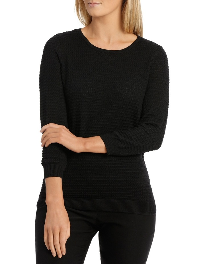 Must Have Circle Textured 3/4 Sleeve Jumper image 1