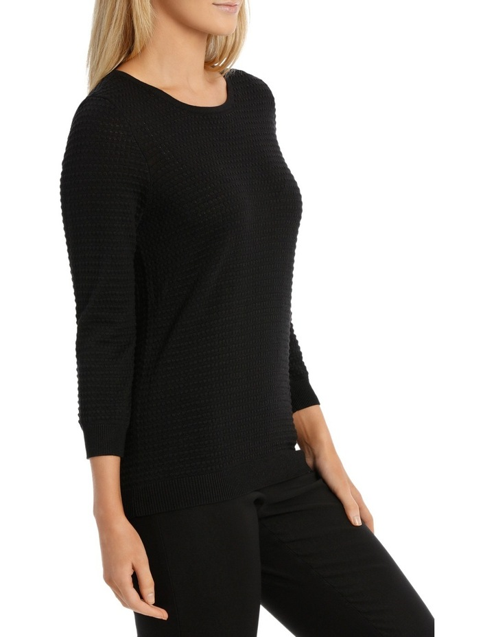 Must Have Circle Textured 3/4 Sleeve Jumper image 2