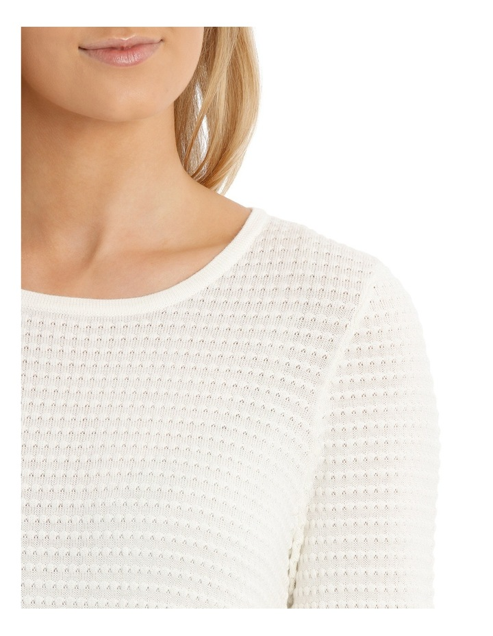 Must Have Circle Textured 3/4 Sleeve Jumper image 4