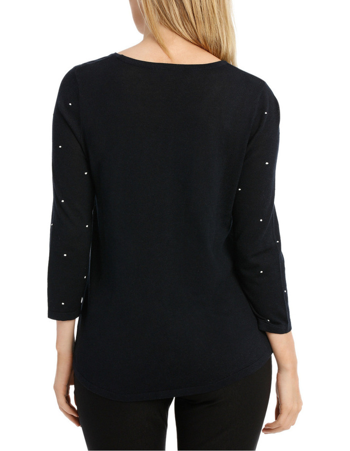 Must Have Contrast Spot Long Sleeve Jumper image 3