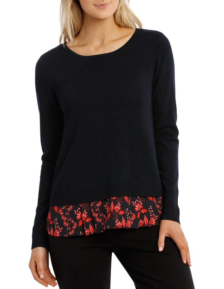 Knit Woven Jumper image 1