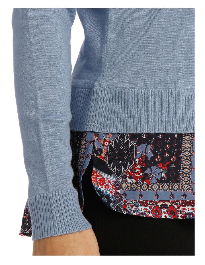 Knit Woven Jumper / Lt Blue RW18145RA image 4