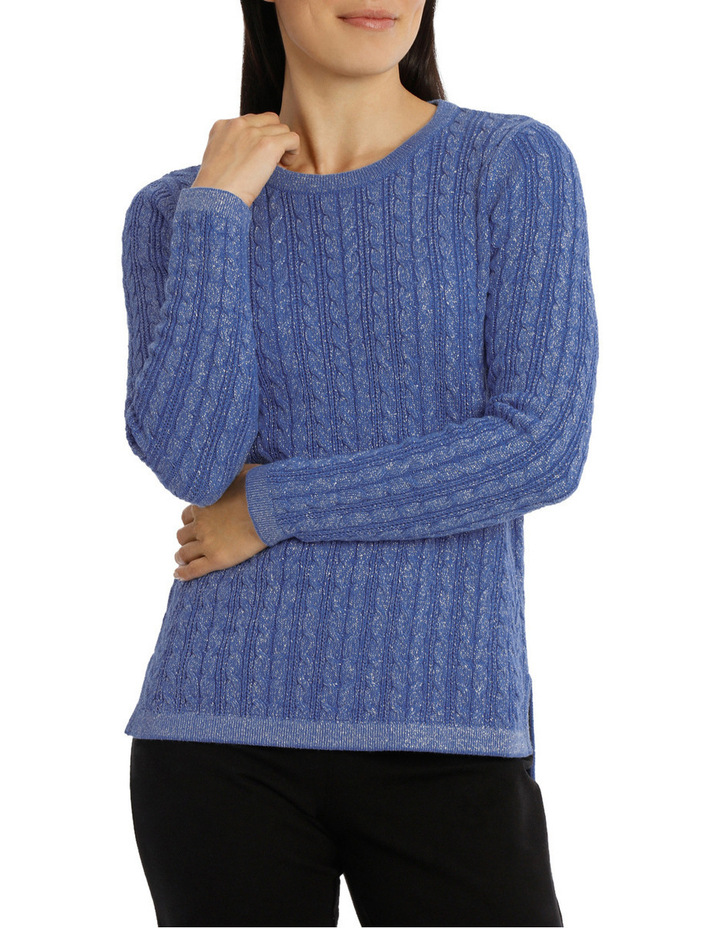 Must Have Metallic Cable Long Sleeve Jumper image 1