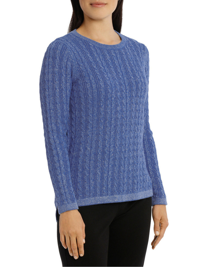 Must Have Metallic Cable Long Sleeve Jumper image 2