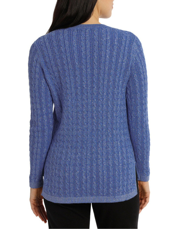 Must Have Metallic Cable Long Sleeve Jumper image 3