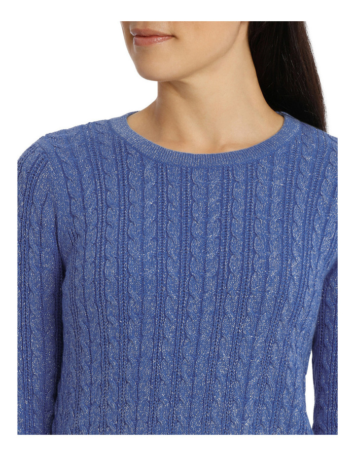 Must Have Metallic Cable Long Sleeve Jumper image 4