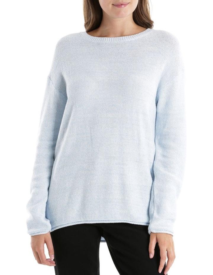 Twist L/S Jumper - Pale Blue/White image 1