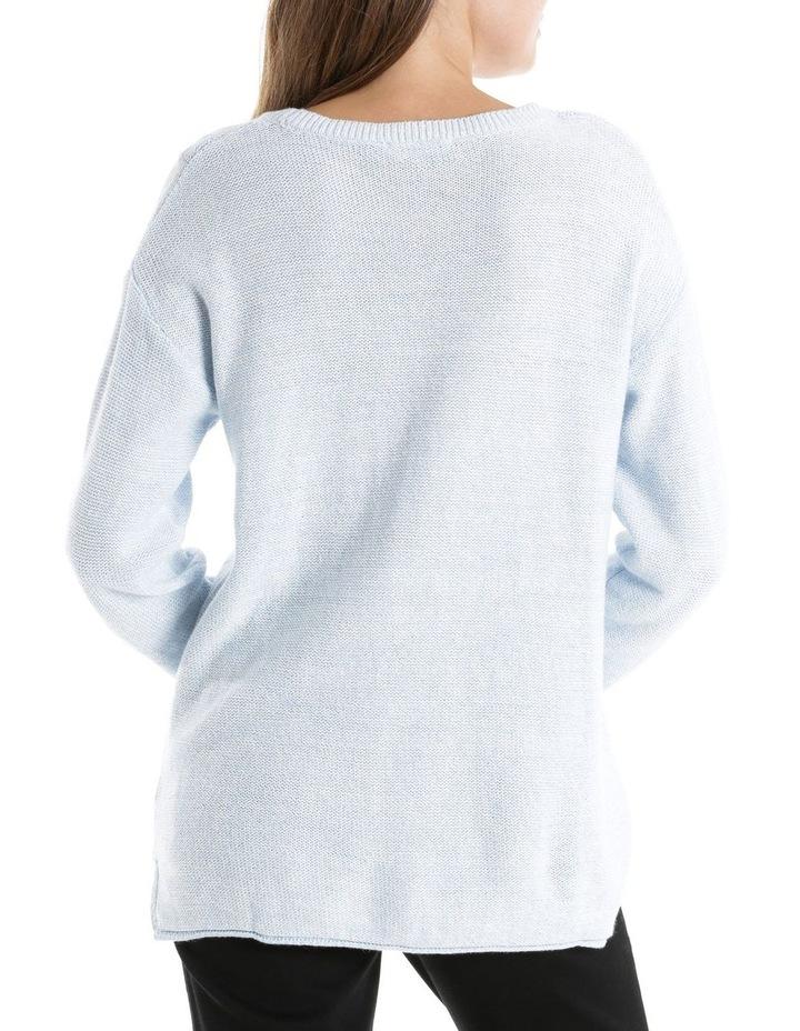 Twist L/S Jumper - Pale Blue/White image 3