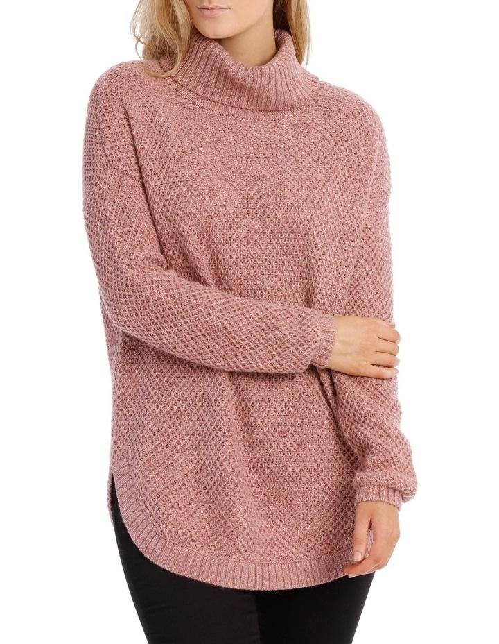 Regatta Dusty Pink Fancy Knit Long Sleeve Roll Neck Jumper