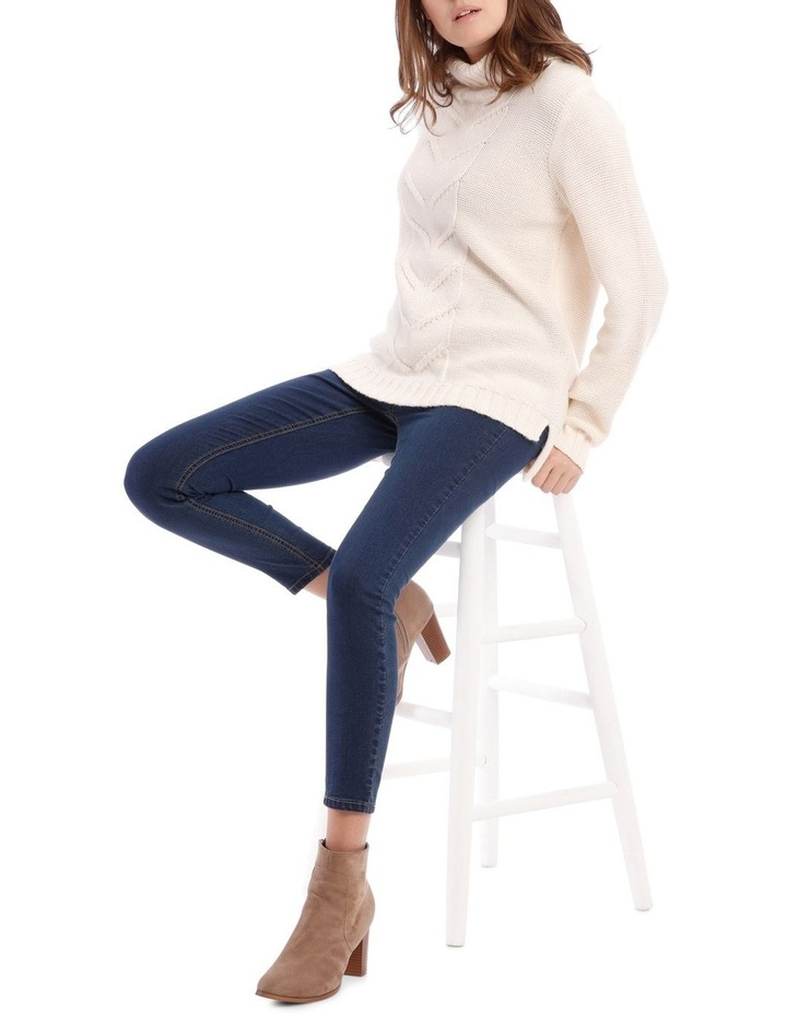 Cable Front Long Sleeve Roll Neck Jumper image 1