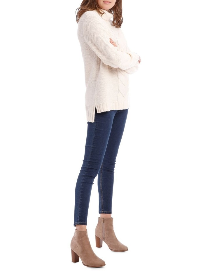 Cable Front Long Sleeve Roll Neck Jumper image 2