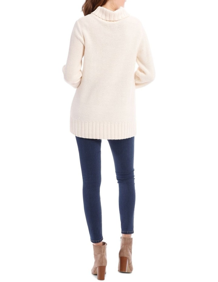 Cable Front Long Sleeve Roll Neck Jumper image 3