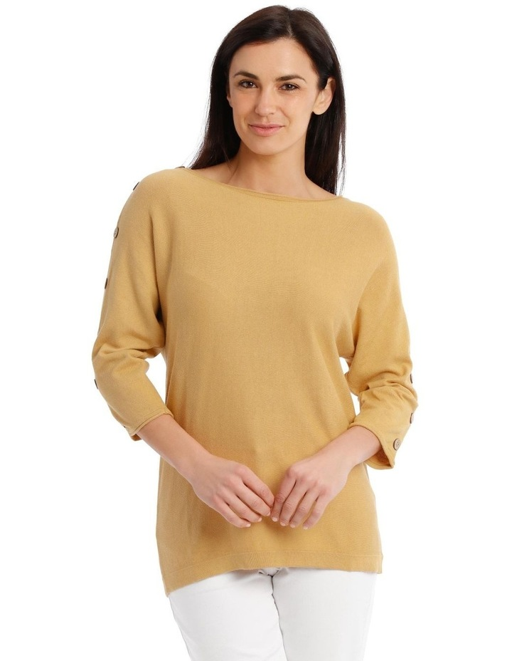 3/4 Magyar Sleeve Jumper With Button Sleeves image 1