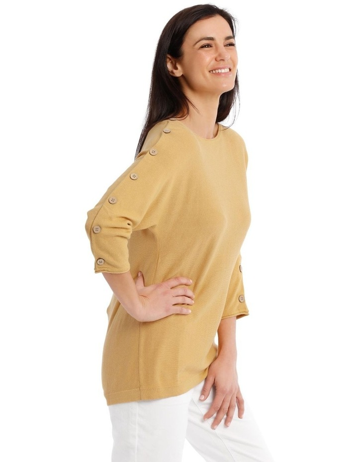 3/4 Magyar Sleeve Jumper With Button Sleeves image 2