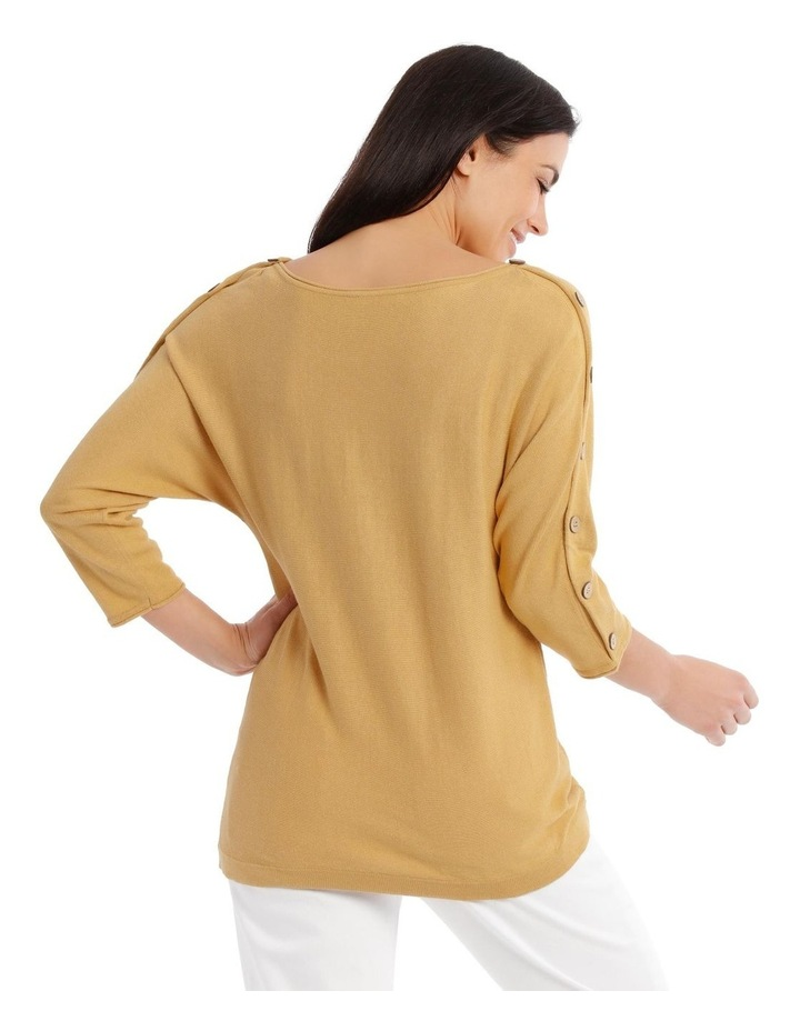 3/4 Magyar Sleeve Jumper With Button Sleeves image 3