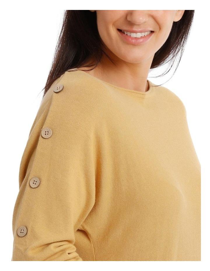 3/4 Magyar Sleeve Jumper With Button Sleeves image 4