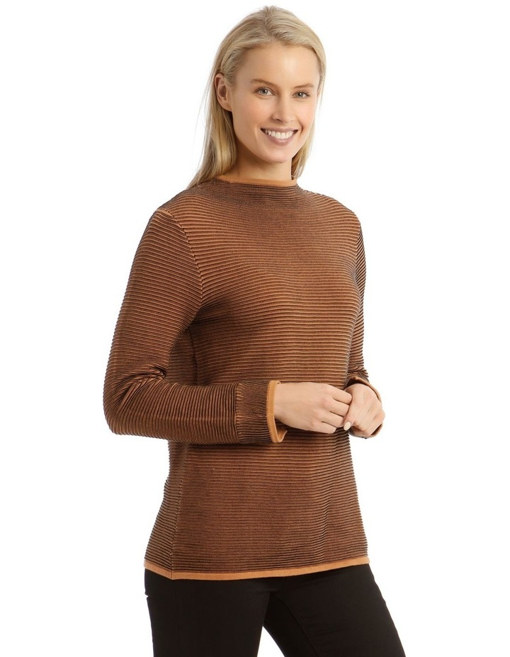 Funnel Neck Contrast Rib Long Sleeve Jumper image 2