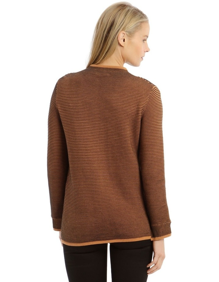 Funnel Neck Contrast Rib Long Sleeve Jumper image 3