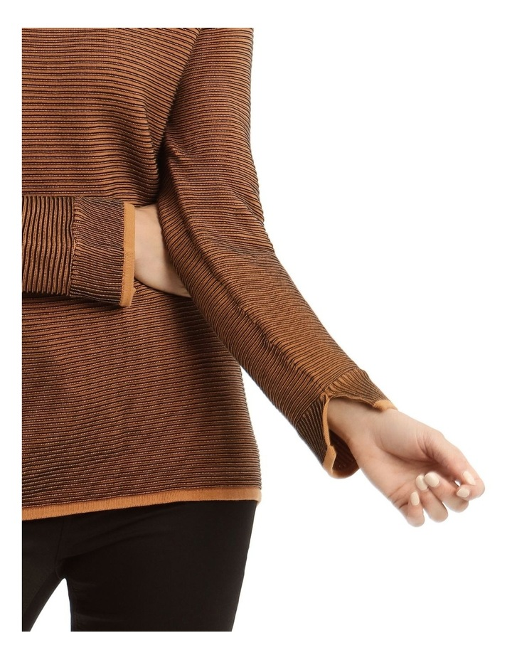 Funnel Neck Contrast Rib Long Sleeve Jumper image 4