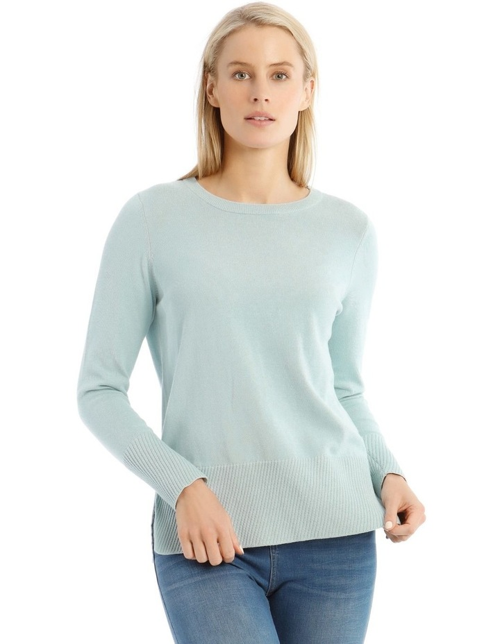 Diagonal Fancy Tipping Long Sleeve Jumper image 1