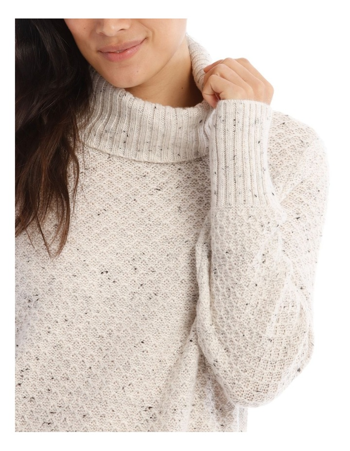 Confluence Roll Neck Jumper With Side Rib, Cf Seam And Side Splits image 4
