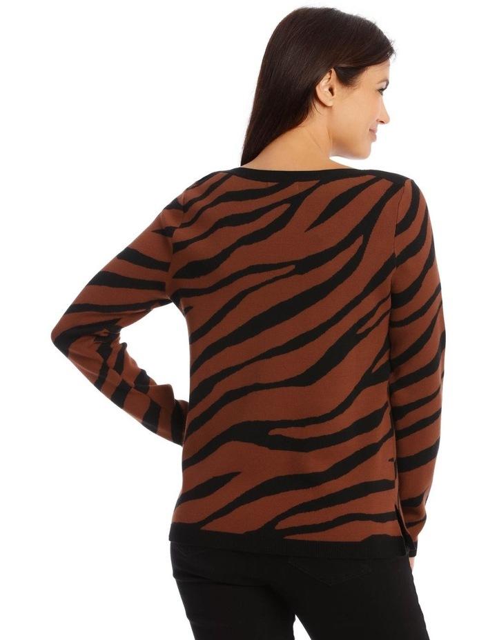 Boat Neck Zebra Intarsia Jumper image 3