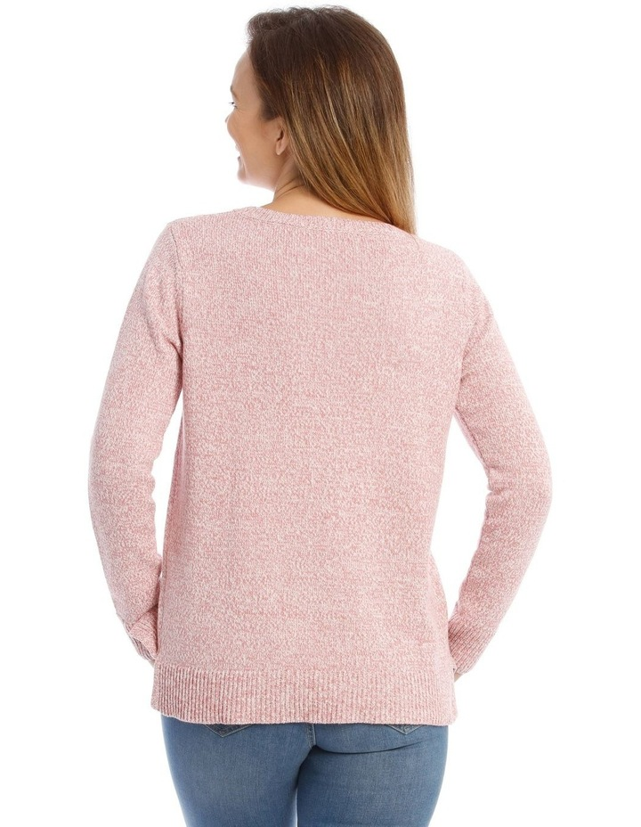 Confluence Crew Neck Long Sleeve Jumper With Cf Seam image 3