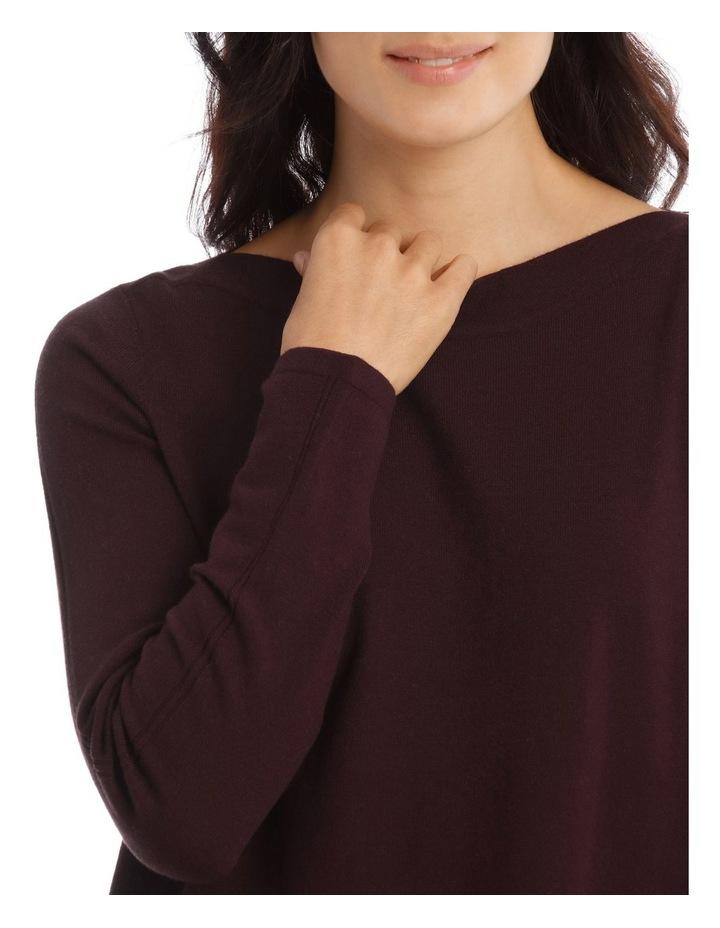 Asymmetrical Rib Hem Long Sleeve Jumper image 4
