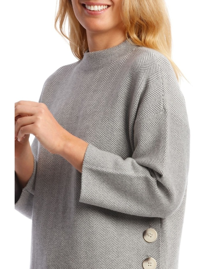 Button Side Stand Collar Long Sleeve Jumper image 4