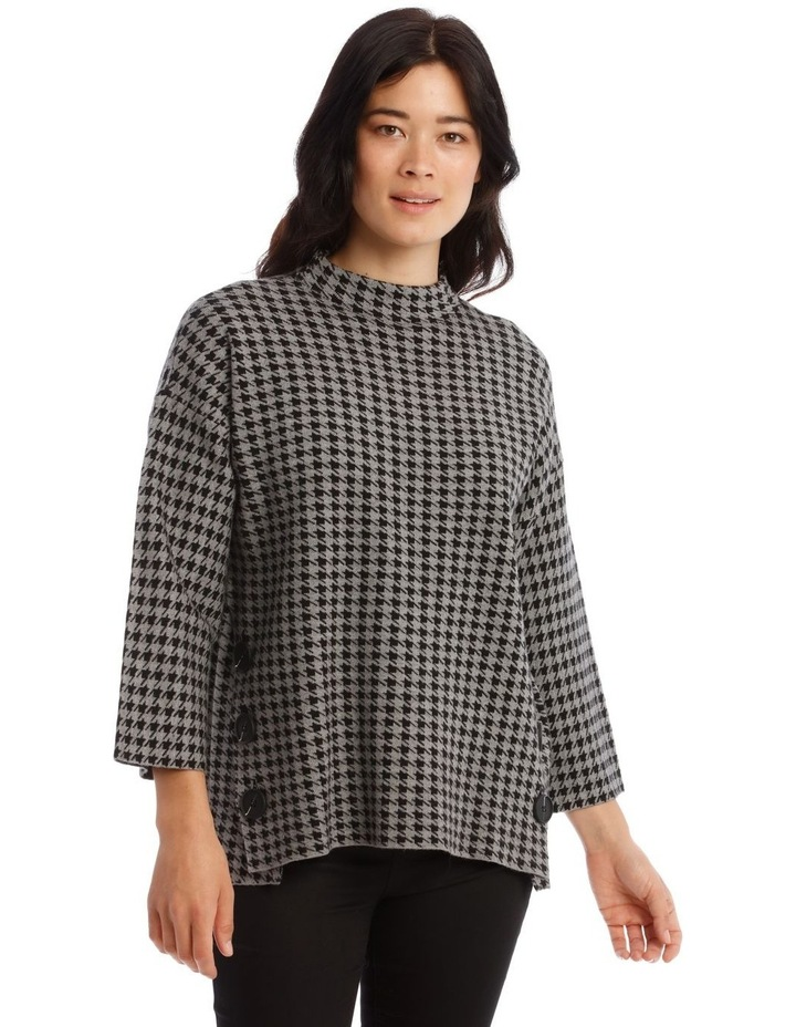 Kindled Button Side Stand Collar Long Sleeve Jumper image 1