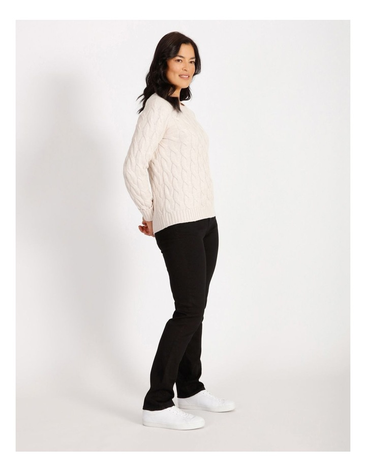 Ochre Dawn Cable Knit Hi/Lo Hem Jumper image 2