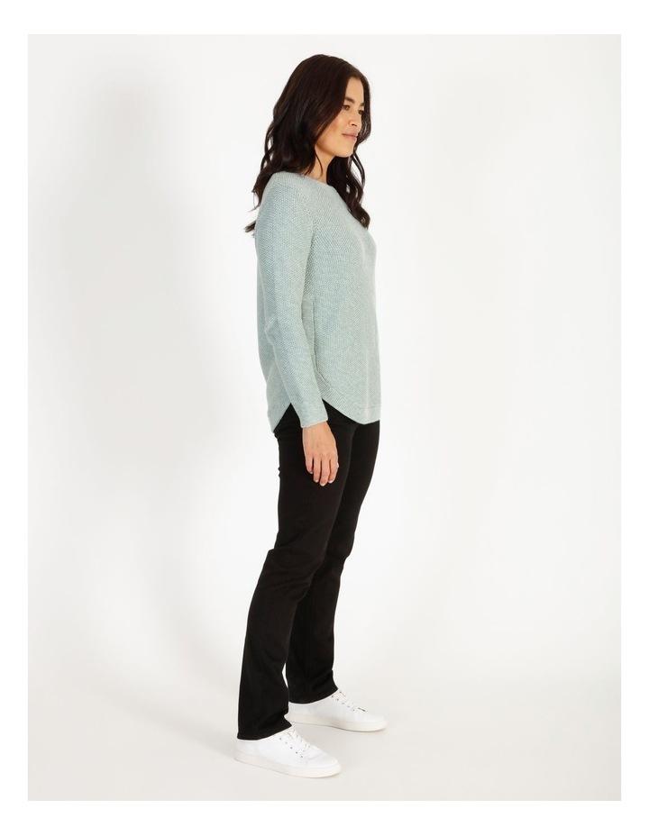 Fancy Knit Front Curved Hem Jumper image 2