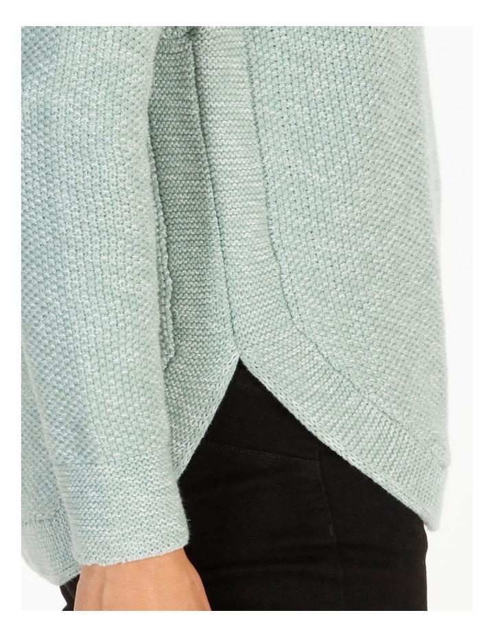 Fancy Knit Front Curved Hem Jumper image 4