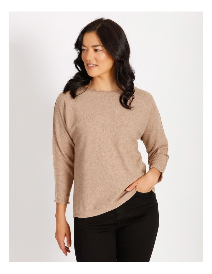 Magyar 3/4 Sleeve Jumper With Exposed Sleeve Seam image 1