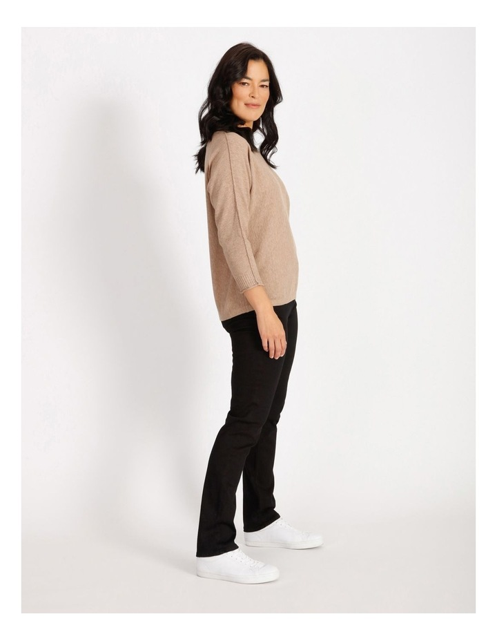 Magyar 3/4 Sleeve Jumper With Exposed Sleeve Seam image 2
