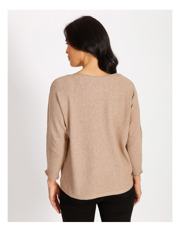 Magyar 3/4 Sleeve Jumper With Exposed Sleeve Seam image 3