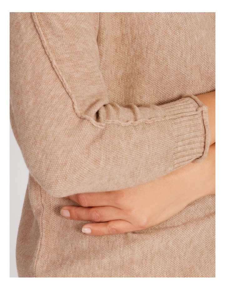 Magyar 3/4 Sleeve Jumper With Exposed Sleeve Seam image 4