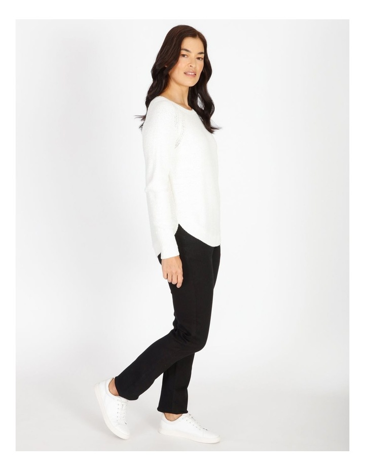Curved Hem Jumper With Pointelle At Armhole image 2