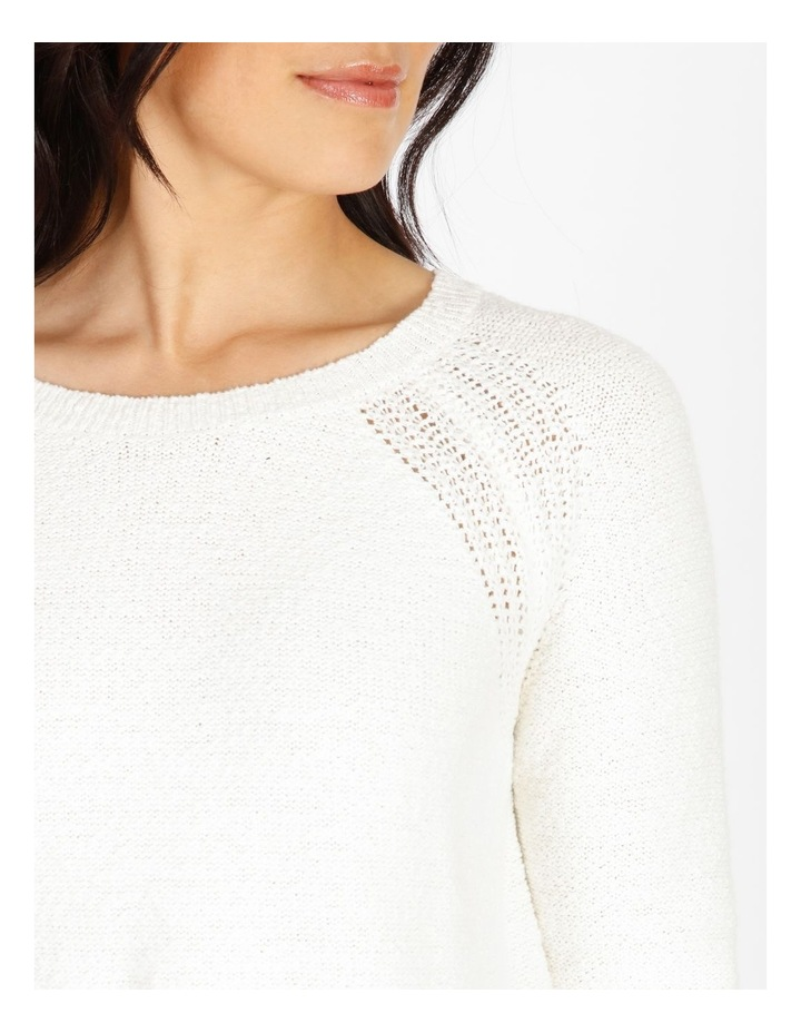 Curved Hem Jumper With Pointelle At Armhole image 4