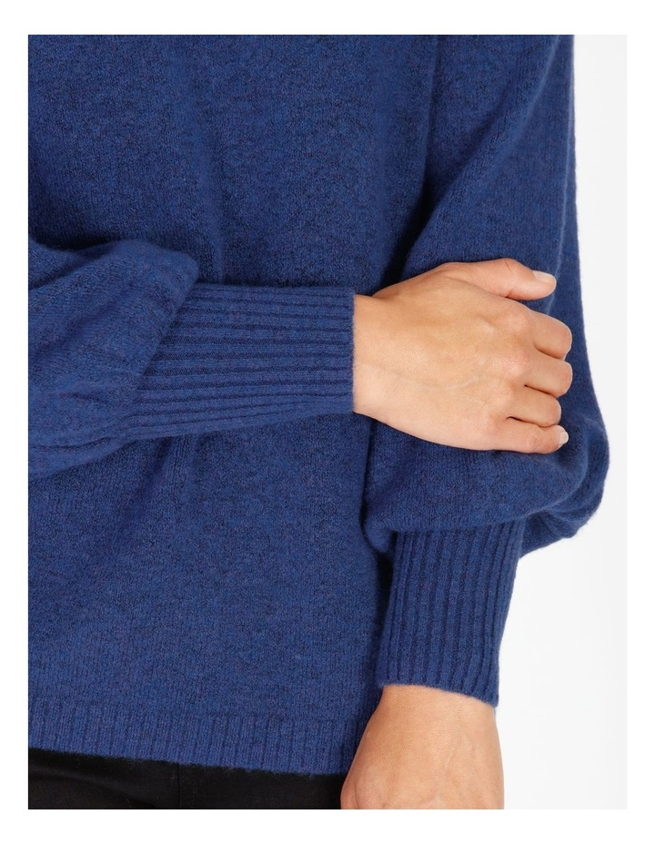 Burnished Boat Neck Raglan Gathered Cuff Jumper image 4