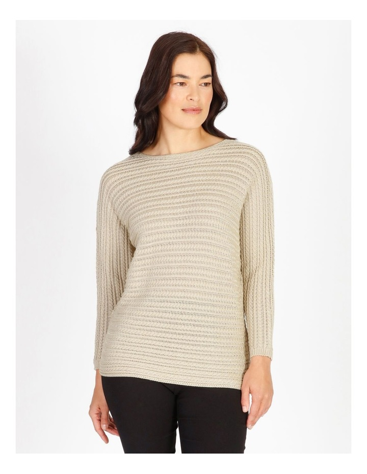 Olive Grove Magyar Sleeve Horizontal Cable Jumper image 1