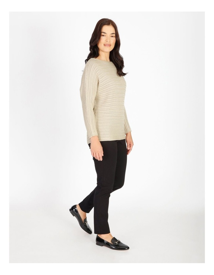 Olive Grove Magyar Sleeve Horizontal Cable Jumper image 2