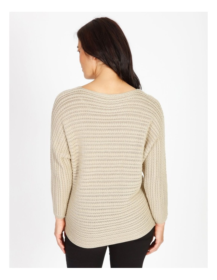 Olive Grove Magyar Sleeve Horizontal Cable Jumper image 3