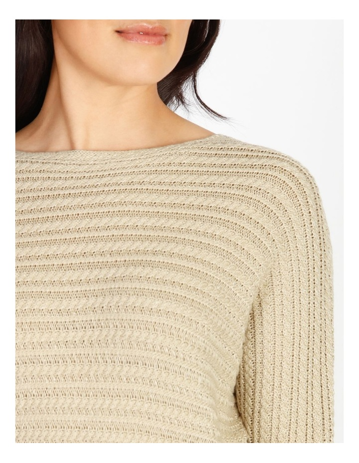 Olive Grove Magyar Sleeve Horizontal Cable Jumper image 4