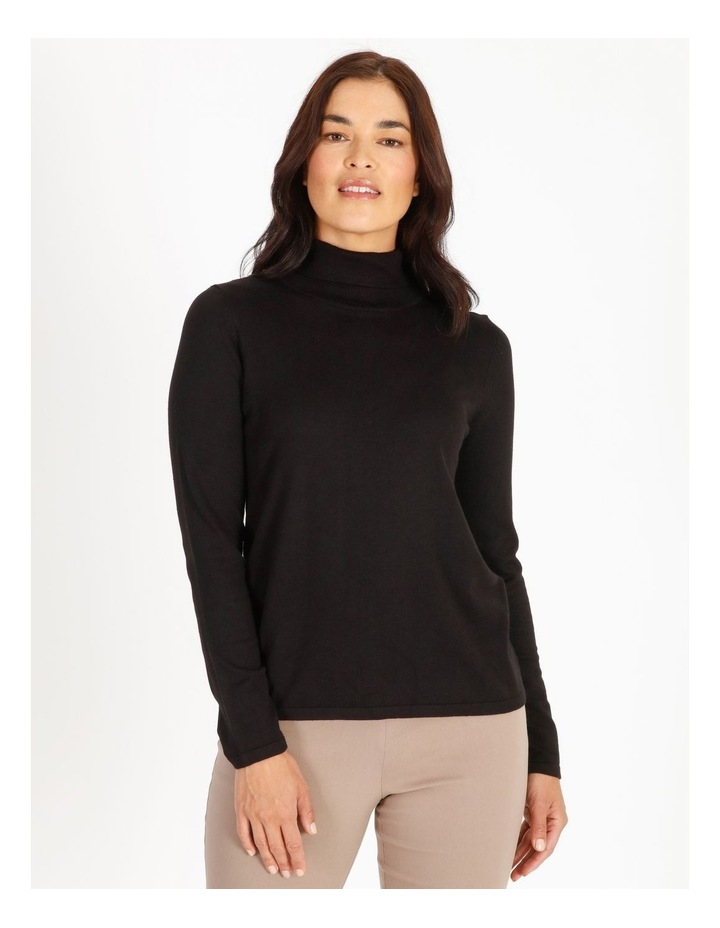 Roll Neck Fitted Jumper image 1