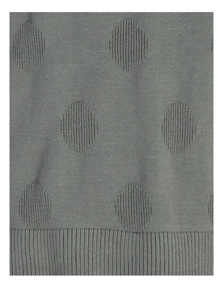 Pillar & Pine Crew Neck Textured Spot Long Sleeve Jumper image 5