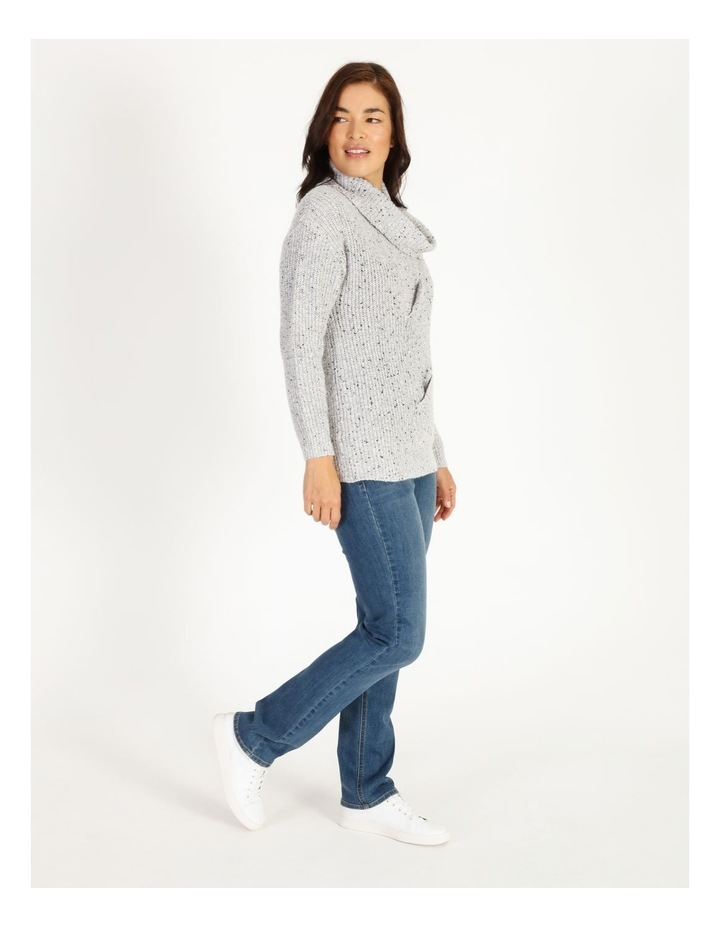 Kindled Wide Cable Front Long Sleeve Jumper With Cowl Neck image 2