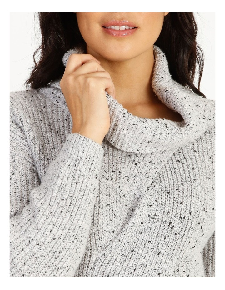Kindled Wide Cable Front Long Sleeve Jumper With Cowl Neck image 4