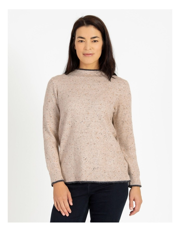 Pillar & Pine Stand Neck Jumper With Contrast Tipping image 1