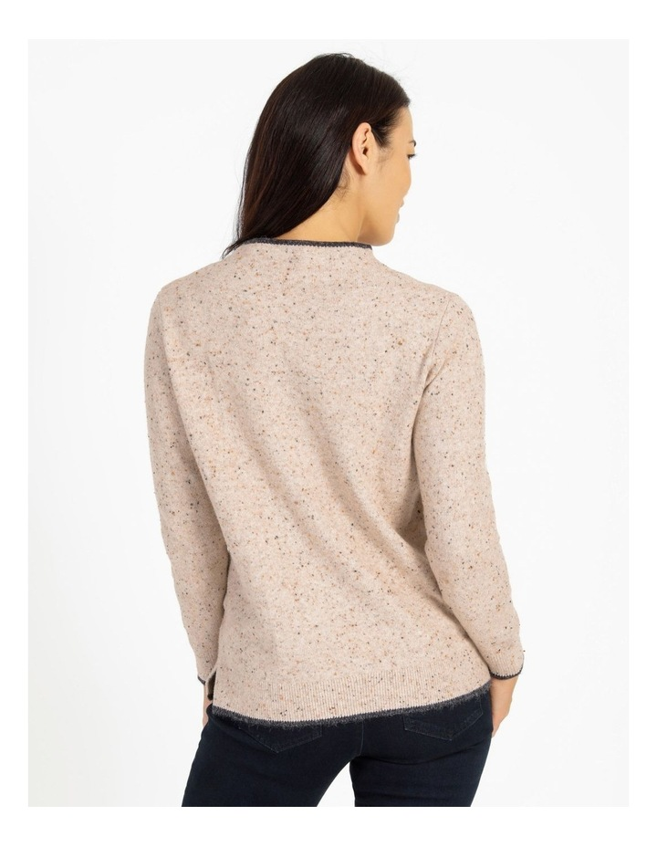 Pillar & Pine Stand Neck Jumper With Contrast Tipping image 3